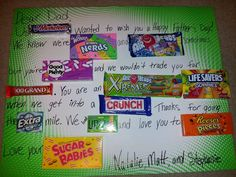 Candy Card For Bosses Birthday Misc Candy Cards Boss
