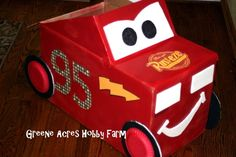 Greene Acres Hobby Farm: Lightning McQueen Cardboard Car Tutorial