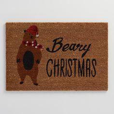 Beary Christmas Coir Doormat | World Market