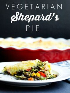 Vegetarian Shepard's Pie.  Uses lentils instead of meat.  My husband loved this vegetarian dinner  recipe! This is a healthy family meal--great dinner idea. Gluten free, also.