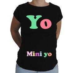 Camiseta para embarazada Divertida - Yo y Mini yo.