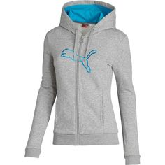 Full-zip Logo Hoodie ❤ liked on Polyvore