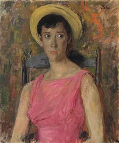 Augustus Edwin John - Portrait of Anna John, the artist's granddaughter (1950)