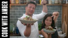 Crunchy Rainbow Coleslaw with Jamie Oliver | Cook With Amber