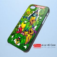 TMNT Teenage Mutant Ninja Turtles green Custom iPhone 4 4S Case Cover