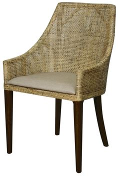 Orlanda Side Chair with Black Shadow Legs. Solid Mindy Wood and Rattan - NPD