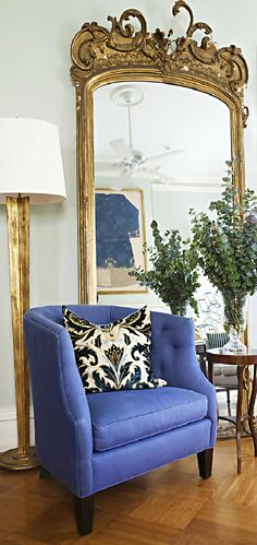 The living room of interior designer Juan Carretero's Hudson, NY home.