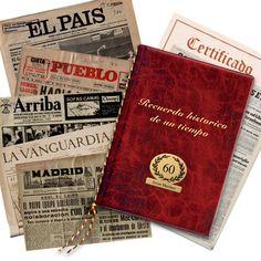 Birth day newspaper / Periódico del día de tu nacimiento