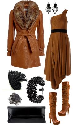 """""""Caramel in Winter"""" by angela-windsor on Polyvore-- like the coat and boots"""
