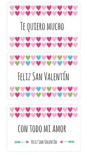 Tarjetas de amor para imprimir Imprime gratis estas tarjetas de amor y dile a tu pareja que la quieres. Puedes esperar a San Valentín o imprimirlas para sorprenderla cuando menos se lo espere. Si quieres poner alguna frase romántica puedes buscar inspiración en nuestra sección de frases de amor. Puedes descargar gratis el archivo haciendo click sobre la imagen o en el enlace siguiente: Descargar tarjetas de San Valentín para imprimir  Enlaces relacionados con tarjetas de San Valentín…