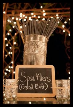 Wedding Sparklers would love for this to be my grand exit!