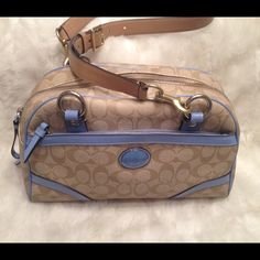 Authentic COACH Peyton LEATHER Shoulder Bag COACH#M1220-F18918. Liner has some lipstick stain hat could be cleaned. The bag looks new on the outside. It comes with one long strap and that you could switch around. Measures 8x12 Coach Bags Shoulder Bags