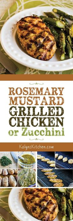 Rosemary Mustard Grilled Chicken is a long-time favorite grilling recipe that I've been making for parties and dinner guests for years. This recipe is fantastic, and it's also low-carb, Keto, low-glycemic, gluten-free, dairy-free, Paleo, Whole 30, and South Beach Diet friendly. [found on KalynsKitchen.com]