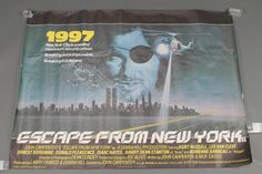 "Lot 374, Escape From New York 1981, original British quad movie poster, 30"" by 40"" est £200-300"