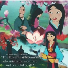 You know this was my childhood movie. I remember, back before we had dvds we had vhs. And I remember crying everytime we had return Mulan to the movie store. Now I have it on dvd:D man I just absolutely love this movie <3