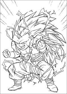 Dragon Ball Z Ausmalbilder. Malvorlagen Zeichnung druckbare nº 90