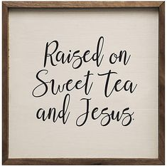 'Sweet Tea and Jesus' Wood Wall Sign, Distressed Wood Look, Rustic Home Decor, Wall Art #affiliate #farmhouse #decor #home