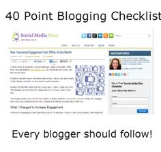 40 Point Blogging Checklist Every Blogger Should Follow