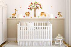 Ideias para quarto de bebê safári. Ideas for a safari baby bedroom. http://www.mildicasdemae.com.br/2014/01/5-ideias-para-quarto-de-bebe-safari.html