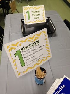Love the idea of stations for back to school/ open house