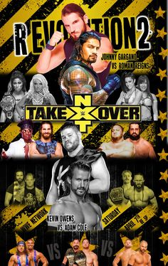WWE Fantasy Match PPV Poster NXT REvolution 2k Games, Wwe 2k, Nxt Takeover, Adam Cole, Wwe Stuff, Kevin Owens, Wwe Wallpapers, Professional Wrestling, Roman Reigns