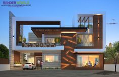 Modern Exterior Contact 9878703823 Auml Aacute Raquo Atilde Iexcl N Bungalow Modern Bungalow Exterior, Modern Exterior House Designs, Modern House Facades, Modern Villa Design, Dream House Exterior, Modern Architecture House, Exterior Design, Architecture Design, Amazing Architecture