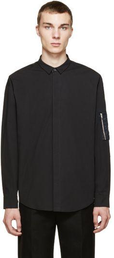 Juun.j Black Utilitarian Shirt in Black for Men