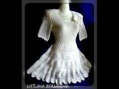 Popular Crochet Little Black Dress Tutorial - Craft & Patterns Crochet Long Dresses, Crochet Wedding Dresses, Black Crochet Dress, Knit Dress, Crochet Pants, Crochet Tunic, Crochet Clothes, Crochet Top, Beach Crochet