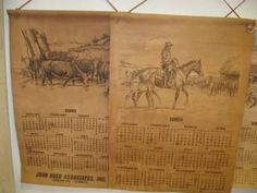 recreate old western calenders, leather look