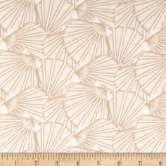 Tidepools Packed Scallop Shells Shell from @fabricdotcom  Designed by Jennifer Pugh for Wilmington Prints, this fabric is perfect for quilting, apparel and home decor accents. Colors include tan and white.