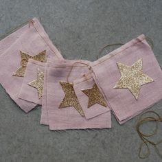 Pink Star Flag Garland