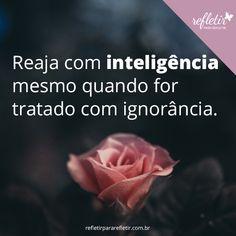 Reaja com inteligência mesmo quando for tratado com ignorância.