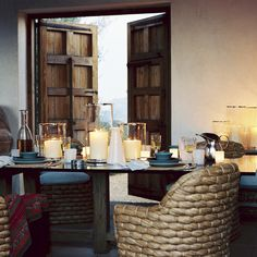Ralph Lauren Home Joshua Tree Collection Desert Southwest California Style Porches, Country Interior, Interior Doors, Interior Decorating, Interior Design, Decoration, Interior Inspiration, Dining Chairs, Dining Rooms