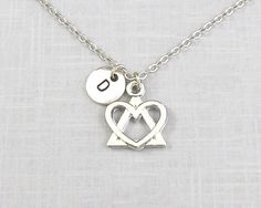 Personalized Adoption Necklace Adopting Adoption Symbol Foster Parent Adoption Jewelry Born My Heart Triangle of Love Mothers (15.00 USD) by koolstuff2