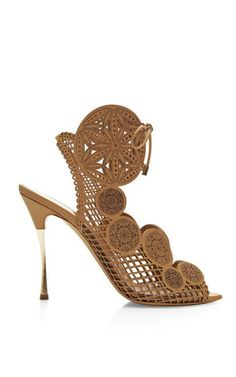 Laser-Cut Leather Sandals by Nicholas Kirkwood