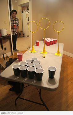 Quidditch Pong ... Why did I not think of this?!