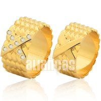 Alianças de Noivado e Casamento em Ouro Amarelo 18k 0,750 - FA-1005