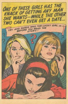 mudwerks: (via Sequential Crush: One of These Girls Has the Knack of Getting Any Man She Wants - Can You Guess Which One? Comic Art, Comic Books, Jordi Bernet, The Knack, Romance Comics, Misfit Toys, Retro Illustration, Illustrations, Comic Panels