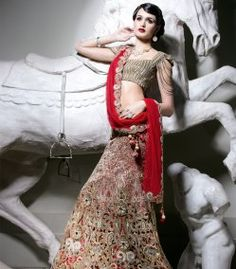 Red Cut Work Lengha