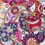 Deco Stof Digital Colorful Paisley