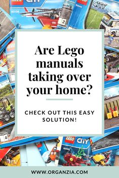 Do you feel like Lego Instruction manuals are taking over your home?  Be sure to check out this simple solution, and organize all those Lego instruction manuals once and for all! #lego #legocreationsinstructions #legostorage #legoideas #legoinstructionsorganization #organizationlego #organizedlego #legomanualsorganized #legomanualorganization Kids Room Organization, Organization Hacks, Organizing Toys, Playroom Ideas, Organization Ideas, Lego Creations Instructions, Legos, Lego Lego, Lego Batman