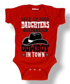 Loving this Red 'New Cowboy in Town' Bodysuit - Infant on #zulily! #zulilyfinds
