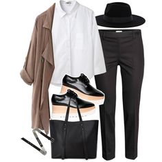 Outfit for work with platforms by ferned on Polyvore featuring moda, Acne Studios, WithChic, STELLA McCARTNEY, Forever 21, Warehouse and McQ by Alexander McQueen