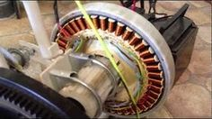 How to rewire an old washing machine motor to generate free power - YouTube