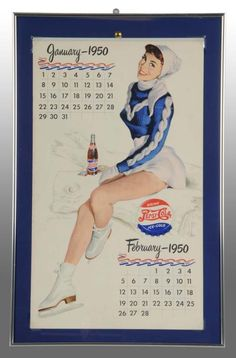Pepsi-Cola 1950 Calendar with Full Pad.