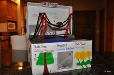 School project: Shoebox Float (50 states - California)