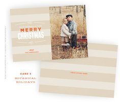 Botanical Holidays #5 - Christmas card template available through Jen Boutet Photography with your holiday or family portrait session in Charlottesville, Va.