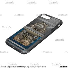 Steam Engine.Age of Steampunk. OtterBox Symmetry iPhone 7 Plus Case★ #Steampunk #Samsung #iphone #Cases #S6 #S7 #ipad #samsunggalaxys #victorian #phonecases #accessories #gosstudio