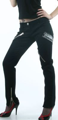 LIP SERVICE Stretch-Twill Patched Up pants #63-148