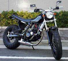 Beautiful custom Yamaha TW200